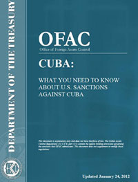 Updated OFAC Cuba Travel Sanctions 2015
